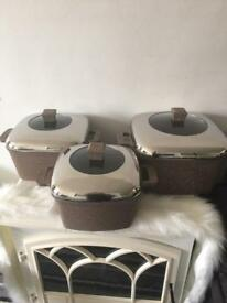 Zio 3 pcs Square pan set brand new