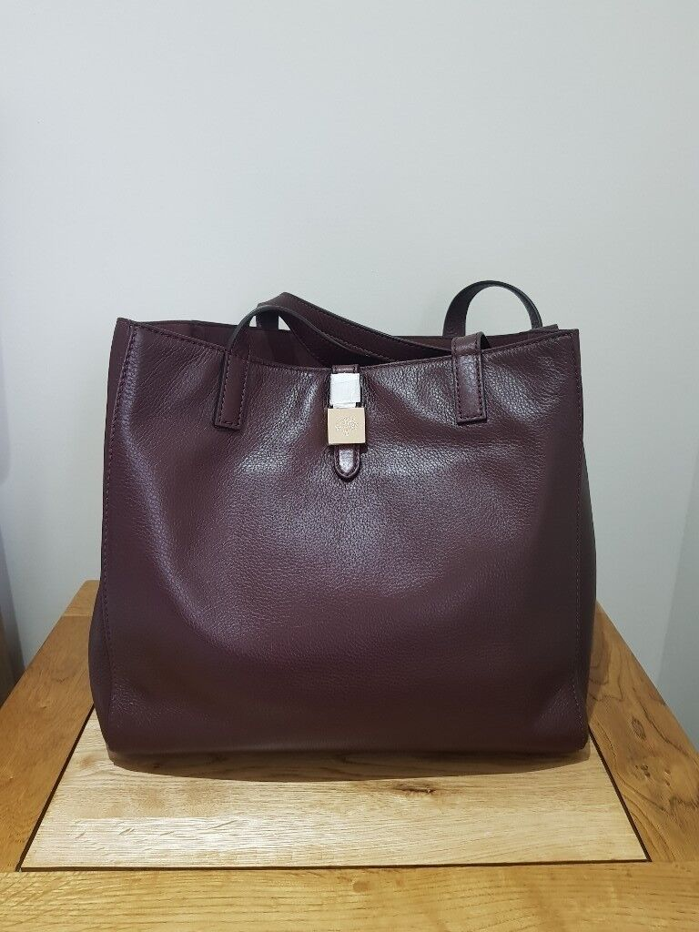 bef01a55aa44 ... italy mulberry oxblood tessie tote b6325 d599a