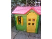 Little tikes country cottage with opening shutters, front door, stove and the all important phone