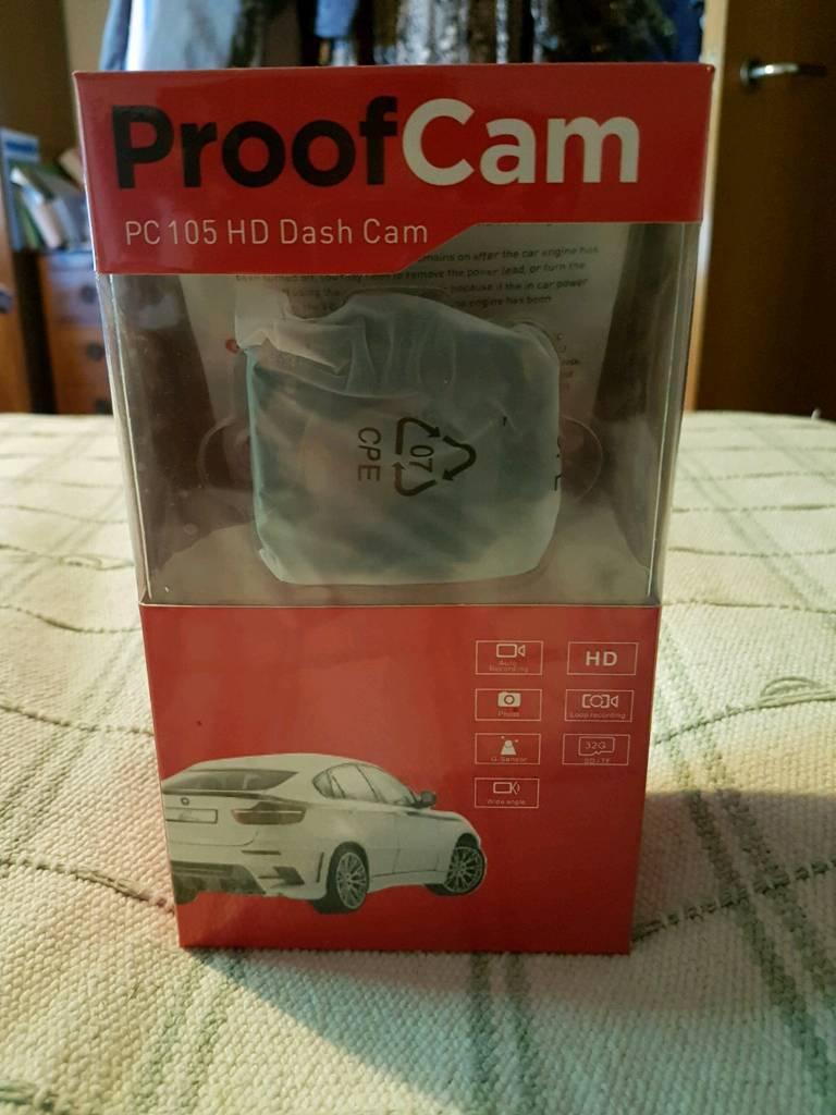 BRAND NEW PROOF CAM ;dash cam pc105 Hd