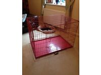 XL Pink Dog Crate