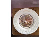 Coalport bone china Christmas Plates set of 4 = 1977, 1978, 1979 & 1980
