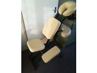 Oakworks massage or tattoo chair. Very well made chair with good quality upholstry