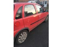 Red Vauxhall Corsa 53 Plate