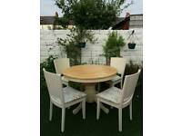 STUNNING SHABBY CHIC DINING/ KITCHEN TABLE AND 4 CHAIRS
