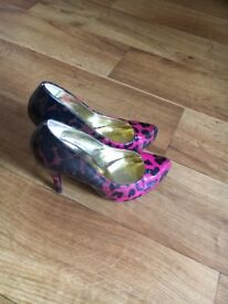 River Island Pink Court Shoes size 7
