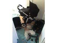 ICANDY Apple Pushchair with Maxi Cosi Cabriofix Car Seat and Carrycot VERY GOOD CONDITION