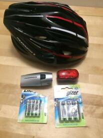 Bike starter kit at 30% discount (Helmet, front light, back light , 4xAA battery & 4x AAA batteries