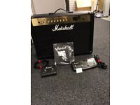 Marshall MG100FX Amp With 2 pedals, leads, Manual And Cover