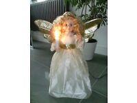 Vintage Christmas Angel Motion Display Figure