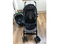 Silvercross 3D travel system with isofix base