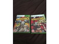 2 games for Xbox 360 borderlands