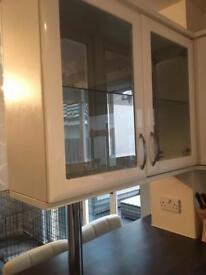 White Gloss kitchen display unit