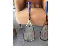 Squash racket Wilson titanium 155 frame