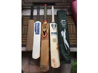 Hunts County Clipper Bat, Fearnley Legends Series Bat & Slazenger stumps & bails
