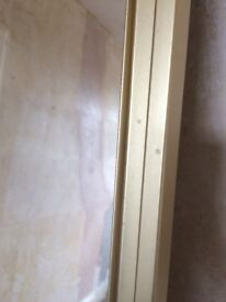 Two mirrored wardrobe doors size233x77cm with runner