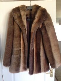 Ladies fur coat -size small