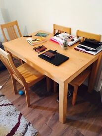Wooden Dining Table and 4 Chairs for throwaway price