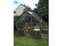 Glass greenhouse wooden frame free
