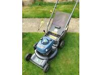 Petrol lawn mower, lawnmower.