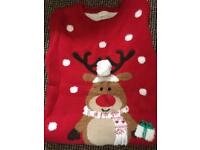 Girls Christmas (flashing) jumper