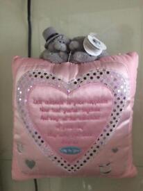 Tatty teddy / me to you wedding cushion