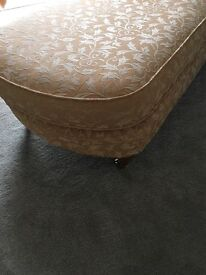 Chaise Longues. M&S gold coloured fabric.