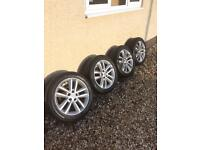 Vauxhall Vectra Zafira alloys and Continental winter tyres