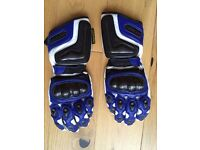Lookwell Motorcycling / biker leather gloves w. kevlar protection, size M
