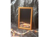 Small Pine frame mirror H55.5cm W35.5cm