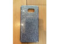 Samsung Galaxy Note 5 Official Genuine Glitter Case Cover Pink & Silver