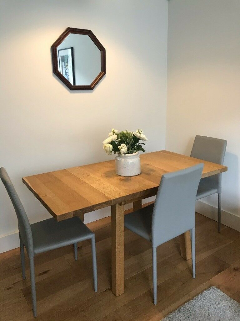Grey John Lewis Leather-Look Dining Chairs (set of 4)   in ...
