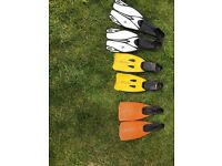 3 sets of flippers