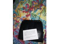 Ladies Navy Lizard skin Handbag