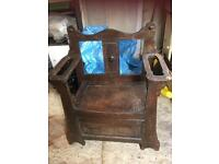 Monks Bench. Antique