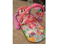 fisher price pink kick and play piano play gym baby play mat