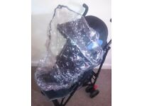 Push chair with rain cover
