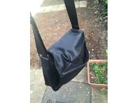 Real lether mens bag (black)