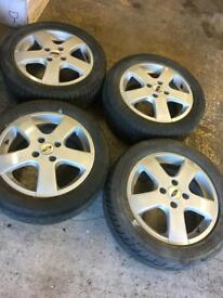 "16""4stud ford set of 4 alloys with tyres"