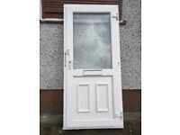 Double glazed door with frame.
