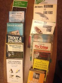 Fly tying books. Some are over 40 years old