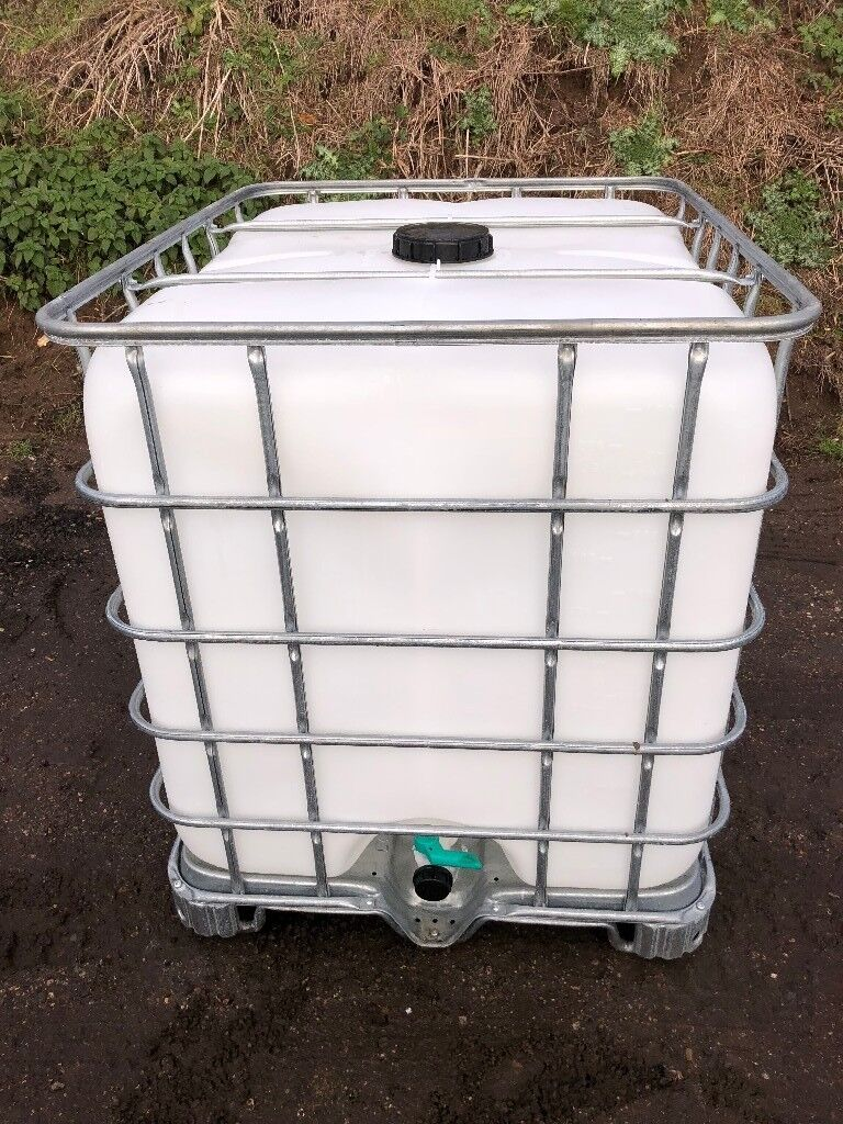 IBC 1000 Litre Ultra Clean Water Butt Container in ESSEX Purified Window Cleaning Safe Animal Water
