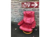 Red leather Stressless chair * free furniture delivery *