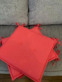 4 garden seat pads brand new