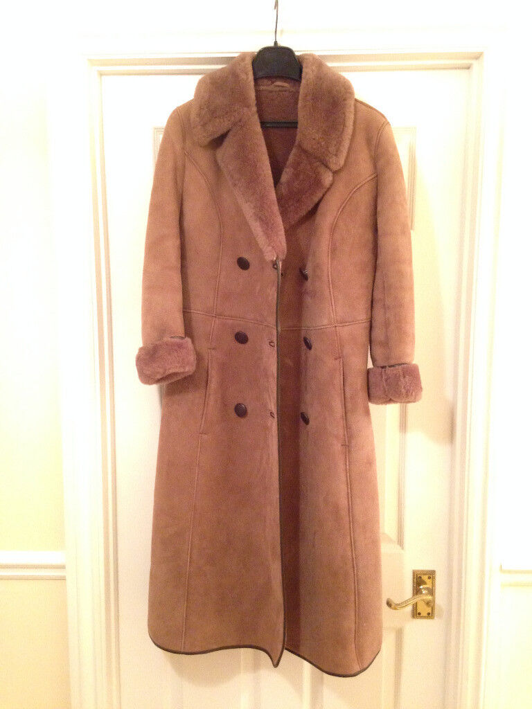 Ladies Vintage Sheepskin Coat Size 10