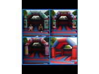 15ft changeable face bouncy castle with fan, 4 sand bags and one mat