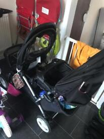 Graco stadium duo tandem pushchair (oxford)