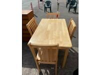 Solid Wood Table and chairs (can deliver)