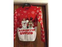 Men's official Manchester United Christmas jumper