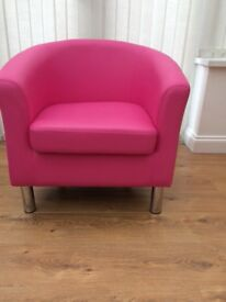Pink tub chair